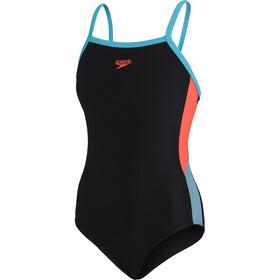 speedo Dive Thinstrap Muscleback Swimsuit Girls, nero
